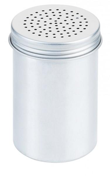 Salzstreuer Aluminium 6,5 cm-Hoehe 12,0 cm-Lochung 2 mm