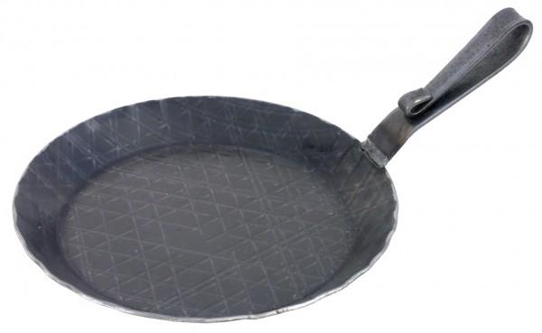 Servierpfanne 20 cm-Hoehe 2,5 cm-Boden 14,5 cm-Stiellaenge 11,0 cm