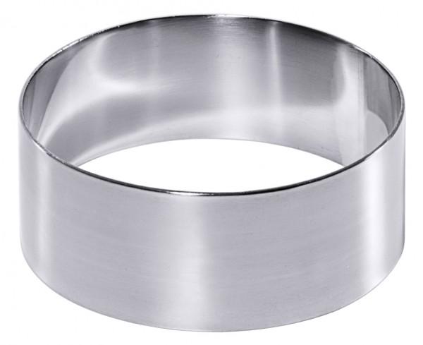 Mousse-Ring 9 cm Set a 2 St.-Hoehe 3,5 cm