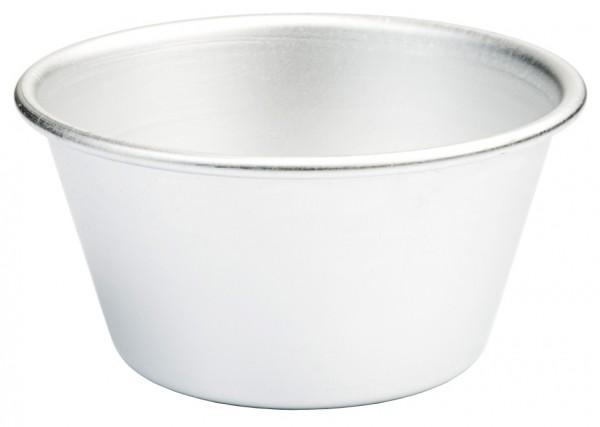 Pudding-Becherfoermchen, Alu Boden 7,0 cm-Hoehe 5,5 cm-Volumen 350 ml