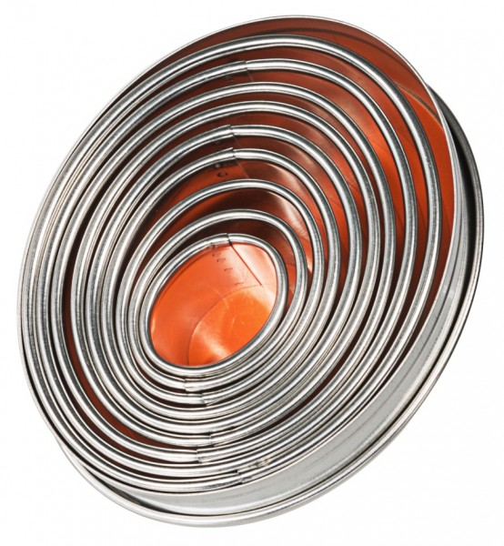 Ausstechform Oval - glatt - Set mit 9 Stück