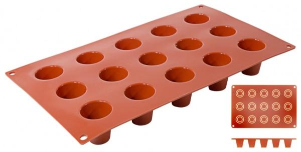 Silikon Backmatte DARIOL Ø 5,5 cm - Höhe 6,0 cm - 15 Formen