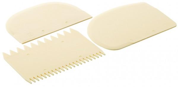 Teigschaberset-dreiteilig-Laenge 12,0 cm-Breite 8,5 cm