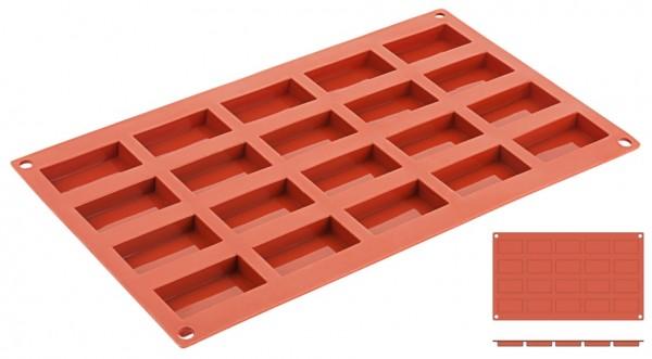 Silikon-Backmatte Flachbarren 4,9 x 2,6 cm - 20 Formen