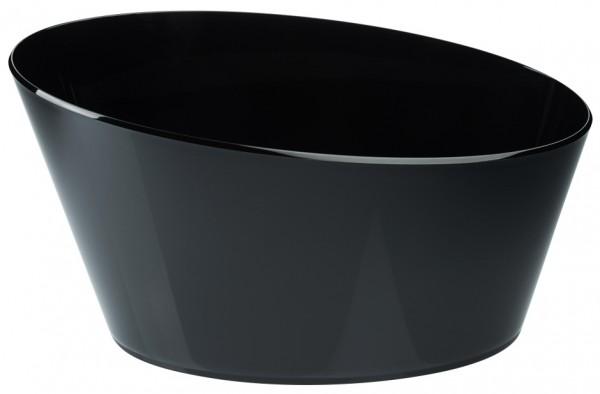 Sektkuehler, oval schwarz 46 cm