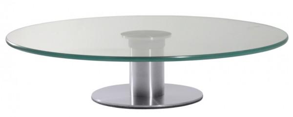 Drehbare Tortenplatte aus Glas