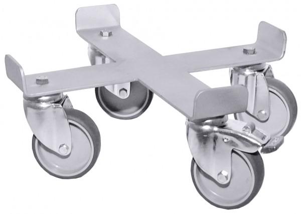 Rolli aus Edelstahl 18/10 mit Ø Rad 70 mm - passend zu 3008075