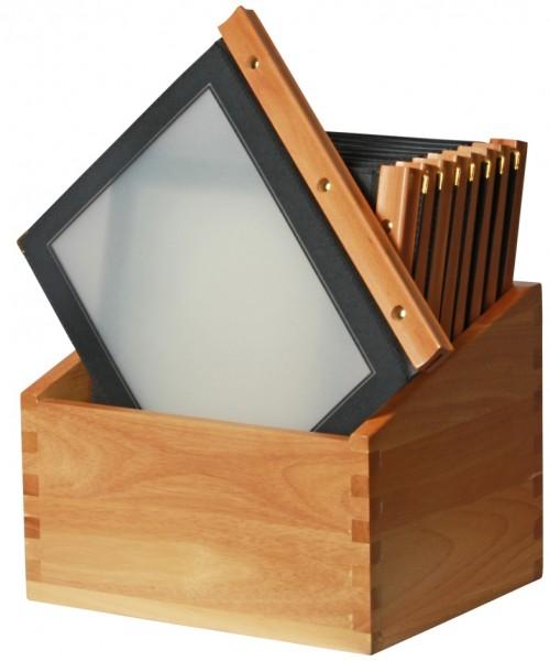 Speisekartenmappe DIN A4 20 Stück - Schwarz