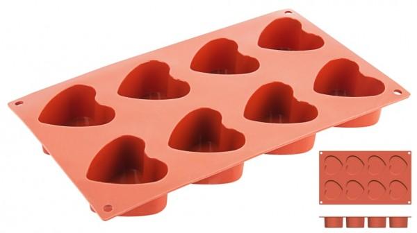 Silikon-Backmatte Herz Ø 6,0 cm - 8 Formen