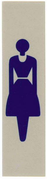 Hinweisschild-Masse 16 x 4 cm-DAME-LADIES (SYMBOL)