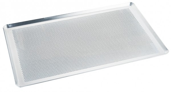 Backblech - perforiert - Maße 53,0 x 32,5 cm - Höhe 1,0 cm - Stärke 1,5 mm