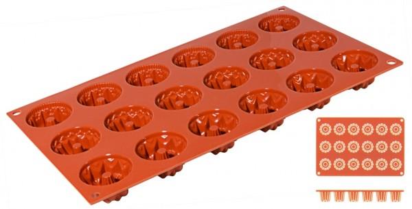 Silikon-Backmatte Gugelhupf Ø 4,1 cm - 18 Formen