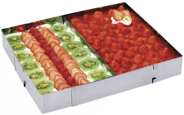 Tortenrahmen rechteckig-Breite von 27,5-52,5-Laenge von 18,5-34,0