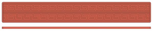 Backreliefplatten - Mäander - Länge 60,0 cm - Breite 8,0 cm