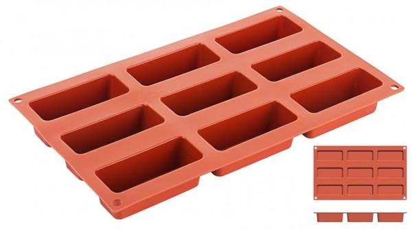 Silikon-Backmatte Barren 8,5 x 3,5 cm - 9 Formen
